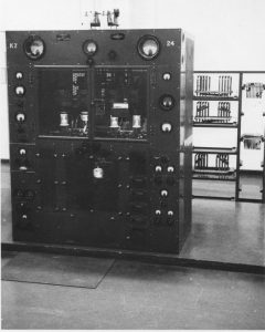 A Marconi-SWB11 Transmitter in Black and White