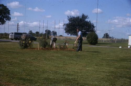 Gardening at GTW 1960's