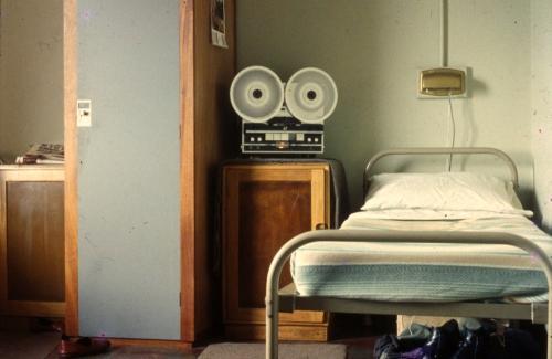 John Moore's bedspace 1967 bedspace 67